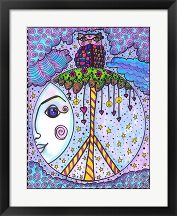 Framed Peace Perch Print