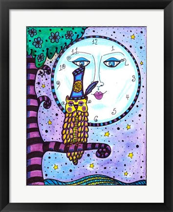 Framed Time For Owls and Full Moons Print