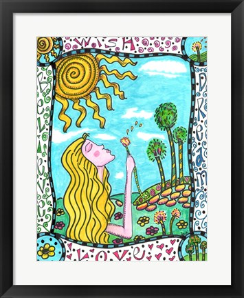 Framed Wish, Dream, Love, Believe Print