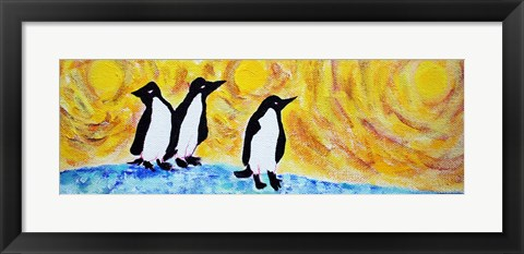 Framed Starry Night Penguin II Print