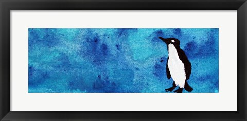 Framed Blue Penguin II Print