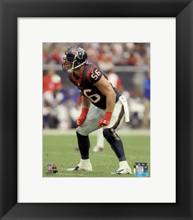 Framed Brian Cushing on the field 2014 Print