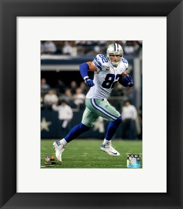 Framed Jason Witten Running The Football Print