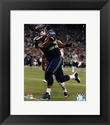 Framed Earl Thomas 2014 with the ball Print