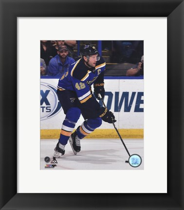 Framed David Backes 2014-15 Action Print