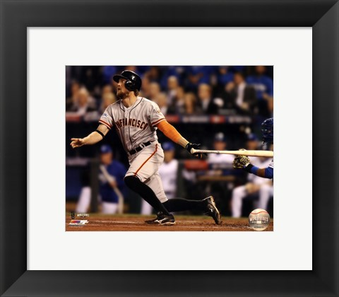 Framed Hunter Pence Home Run Game 1 of the 2014 World Series Print