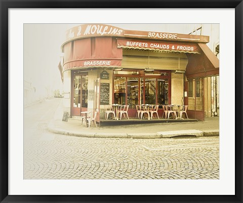 Framed Paris Brasserie Print