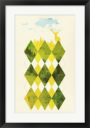 Framed Elegant Forest Print