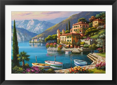 Framed Villa Bella Vista Print