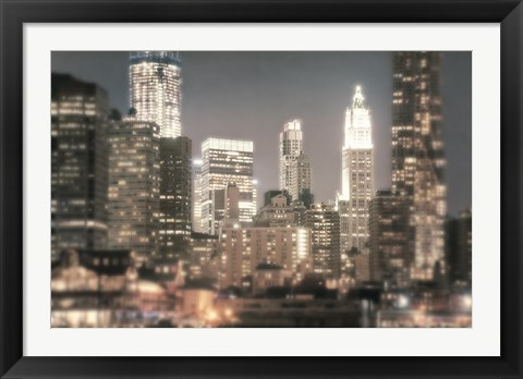 Framed In a New York Minute Print