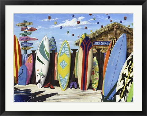 Framed Surf Shack Print