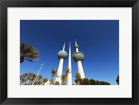 Framed Kuwait, Kuwait City, Kuwait Towers Print