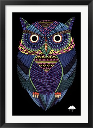 Framed Mulga - Michael the Magical Ow Print