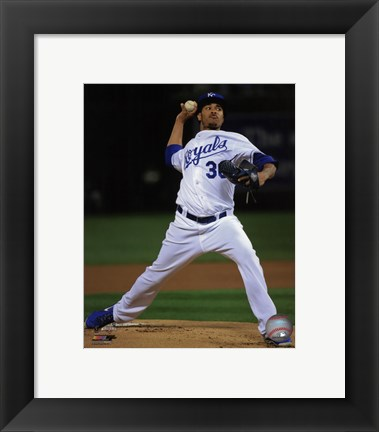 Framed Yordano Ventura Game 2 of the 2014 World Series Action Print
