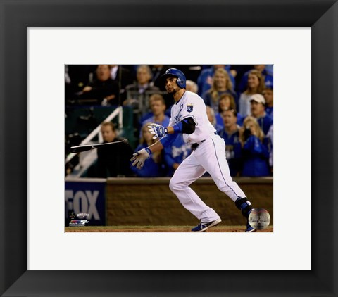 Framed Omar Infante Game 2 of the 2014 World Series Action Print