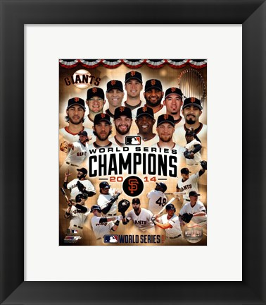 Framed San Francisco Giants 2014  World Series Champions Composite Print