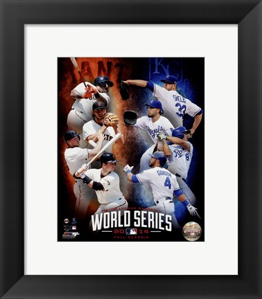 Framed 2014 MLB World Series Match Up Composite San Francisco Giants vs. Kansas City Royals Print