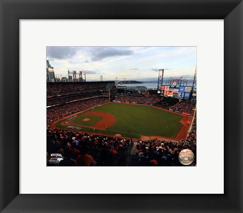 Framed AT&T Park Game 3 of the 2014 World Series Print