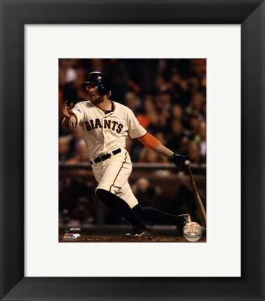 Framed Hunter Pence Game 4 of the 2014 World Series Action Print