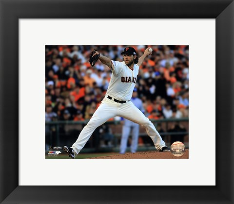 Framed Madison Bumgarner Game 5 of the 2014 World Series Action Print