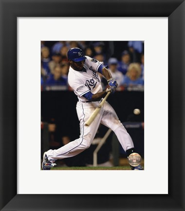 Framed Lorenzo Cain Game 6 of the 2014 World Series Action Print