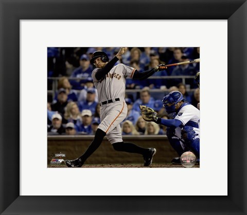 Framed Hunter Pence Single Game 7 of the 2014 World Series Print