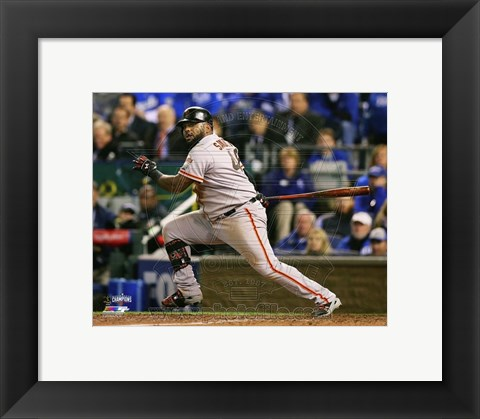 Framed Pablo Sandoval Double Game 7 of the 2014 World Series Print