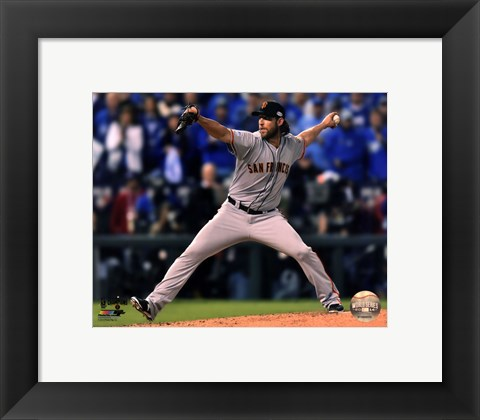 Framed Madison Bumgarner Game 7 of the 2014 World Series Action Print