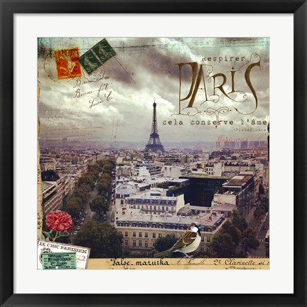 Framed Breath Of Paris Print