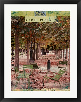 Framed Tuileries Print