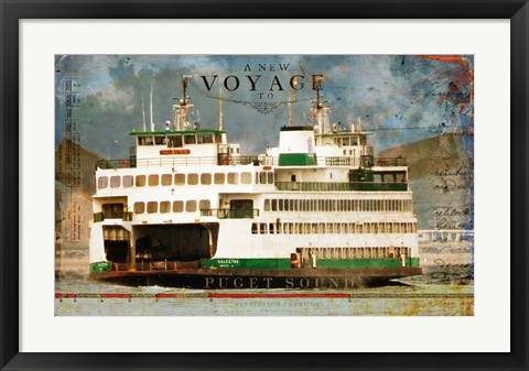 Framed Voyage To Puget Sound Print