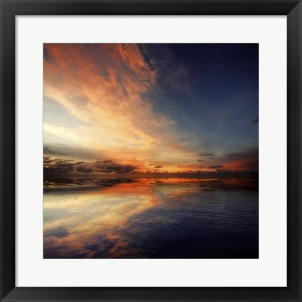 Framed Cloudscape Echoes I Print