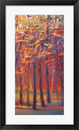 Framed Orange and Red Woods II Print