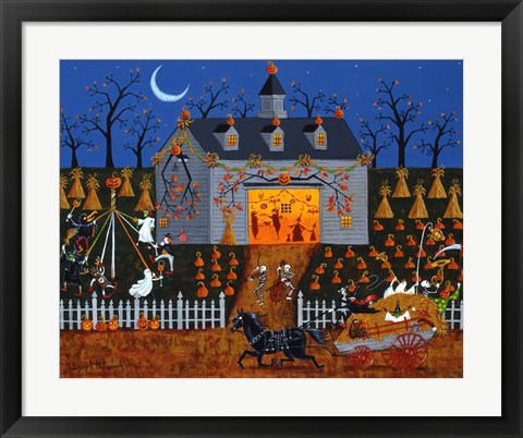 Framed All Hallows Barn Dance Print