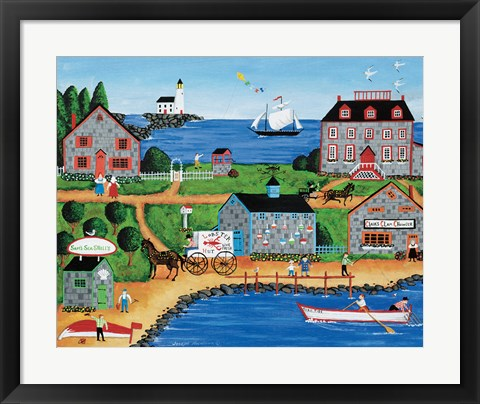 Framed Clair's Cove Print