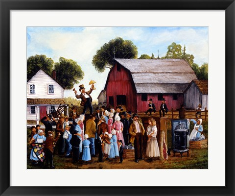 Framed Farm Auction Print