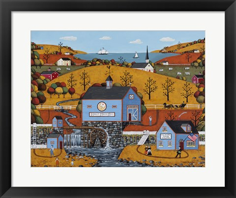 Framed Half Moon Mill Print