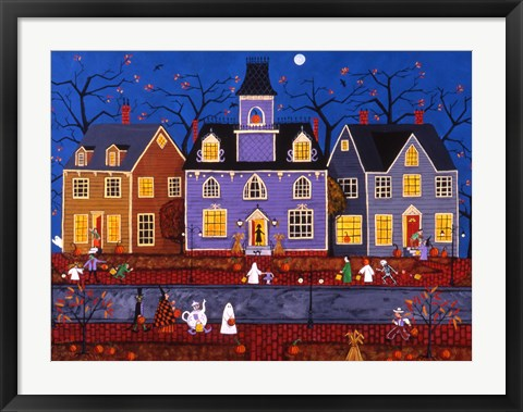 Framed Halloween In Pleasantville Print