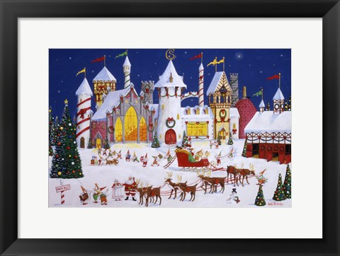 Framed Santa's North Pole Print