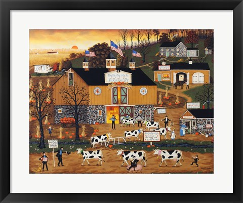 Framed When The Cows Come Home Print
