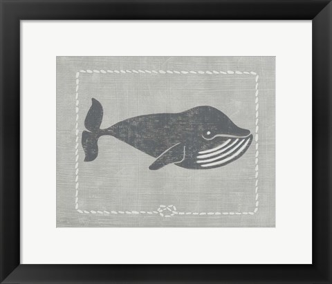 Framed Whale of a Tale III Print