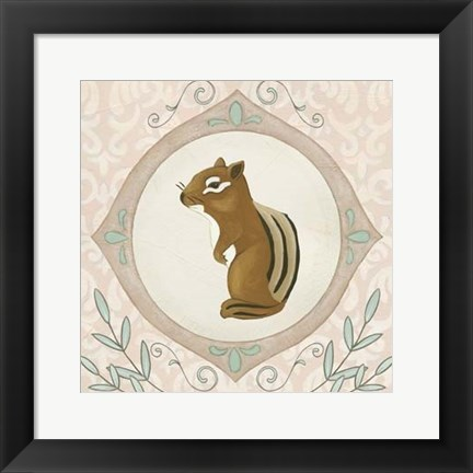 Framed Forest Cameo II Print