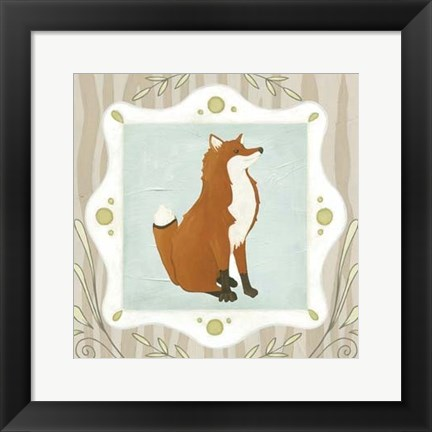 Framed Forest Cameo III Print