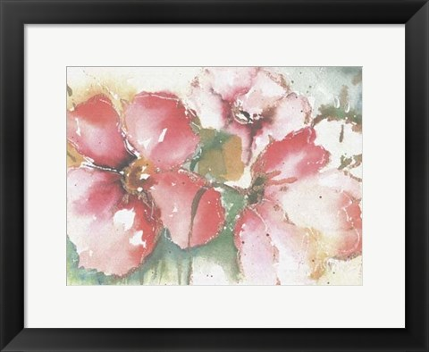 Framed Soft Poppies II Print