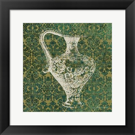 Framed Patterned Bottles III Print