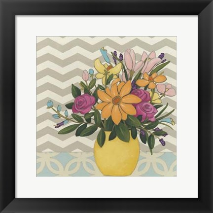 Framed Patterns & Petals I Print