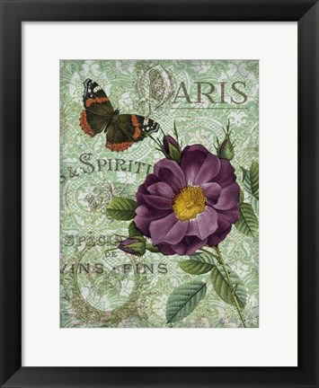 Framed Memories of Paris II Print