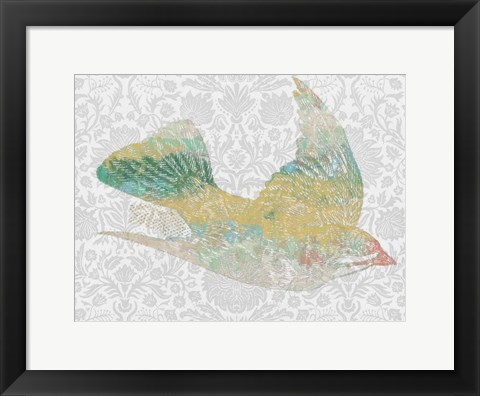 Framed Patterned Bird III Print