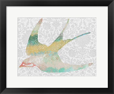 Framed Patterned Bird IV Print