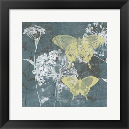 Framed Indigo & Wings II Print
